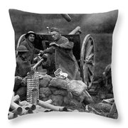 World War I: U.s. Artillery Throw Pillow