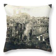 World War I: Verdun Ruins Throw Pillow