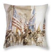 World War I: Victory Parade Throw Pillow