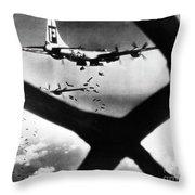 World War II B-29 1945 Throw Pillow
