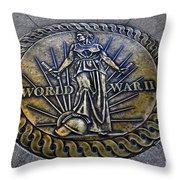 World War II Monument Throw Pillow