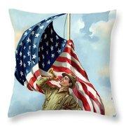 World War One Soldier Throw Pillow
