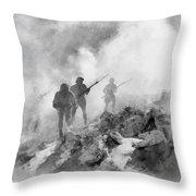 World War Two Battle By John Springfield Throw Pillow
