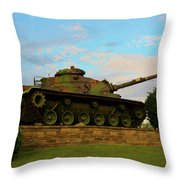 World War Two Tank Throw Pillow