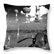 Book Illustation - World War Zero Throw Pillow