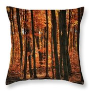 World With Octobers Throw Pillow