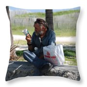 Worldly Posessions Throw Pillow