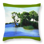 Worlds Away Off The Wye River Throw Pillow