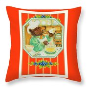World's Best Baker Throw Pillow