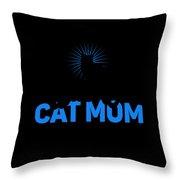 Worlds Best Cat Mom Throw Pillow