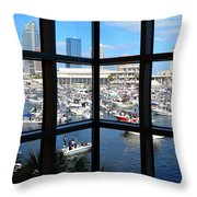 Worlds Biggest Boat Party Throw Pillow