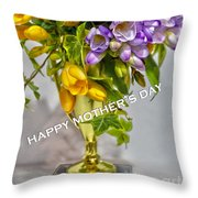 World's Greatest Mom Mother's Day Card Throw Pillow