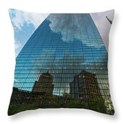 World's Largest Canvas John Hancock Tower Boston Ma Throw Pillow