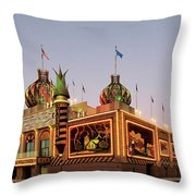 World's Only Corn Palace 2017-18 Throw Pillow by Rich Stedman