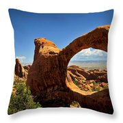Worm Hole Throw Pillow