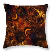 Worm Infestation Throw Pillow