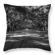 Wormsloe Plantation 2 Live Oak Avenue Art Throw Pillow