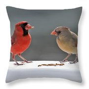 Worms For Breakfast Throw Pillow