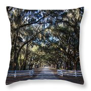 Wormsloe Avenue #2 Throw Pillow