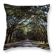 Wormsloe Avenue Throw Pillow