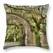 Wormsloe Gate Throw Pillow