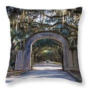 Wormsloe Gates Throw Pillow