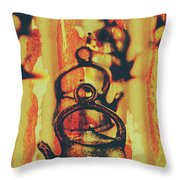 Worn And Weathered Kettles Throw Pillow