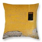 Worn Wall Throw Pillow