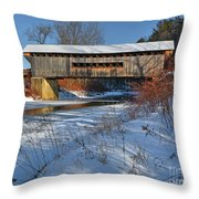 Worrall Covered Bridge Throw Pillow