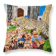 Worship And Kill Throw Pillow
