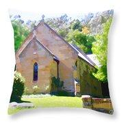 Worship In Wollombi Throw Pillow
