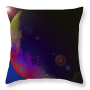 Worshiped Moon Throw Pillow