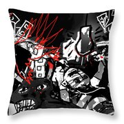 Worshippers Of The Beast Wage War On The Lamb Throw Pillow