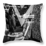 Worth Ave Reflections 0487 Throw Pillow