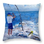 Worth Wading 4 Throw Pillow
