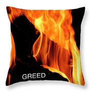 worthy of HELL fire Throw Pillow