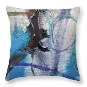 Wounded Concrete Throw Pillow