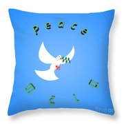 Wounded Dove Symbol Of Peace  Throw Pillow