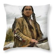 Wounded Knee Throw Pillow