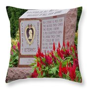 Wounded Throw Pillow