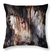 Wounded Tree Throw Pillow