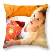 Wow What  A Book Throw Pillow