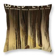 Wpa Wildlife 2 Throw Pillow