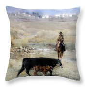 Wrangling # 92 Throw Pillow