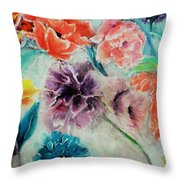 Wrap It Up In Spring By Lisa Kaiser Throw Pillow