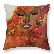 Wrapped In Bliss Throw Pillow