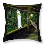Wrapped In Paradise Throw Pillow