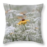 Wrapped In Queen Anne's Lace Throw Pillow