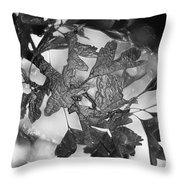 Wrapped Leaves Throw Pillow