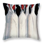Wrapped Wine Bottles  Number One Throw Pillow